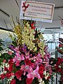 HK Maritime Museum 香港海事博物館 Central grand opening flowers Shipping & Offshore Finance Asia BNP Paribas sign Feb-2013.JPG