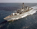 HMS Northumberland glides over the Great Barrier Reef, Australia MOD 45148014.jpg
