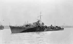 HMS Rapid (H32) - Image: HMS Rapid 1943 IWM FL 1765