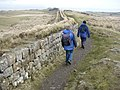 Hadrian's Wall above Peel Crags - geograph.org.uk - 31209.jpg