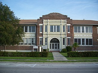 Haines City High School - Original high school, now a theater called Clay Cut Centre, adjacent to the middle school Daniel Jenkins Academy of Technology.