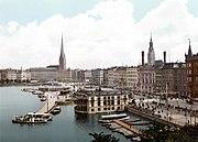 Vista de Hamburgo en 1895