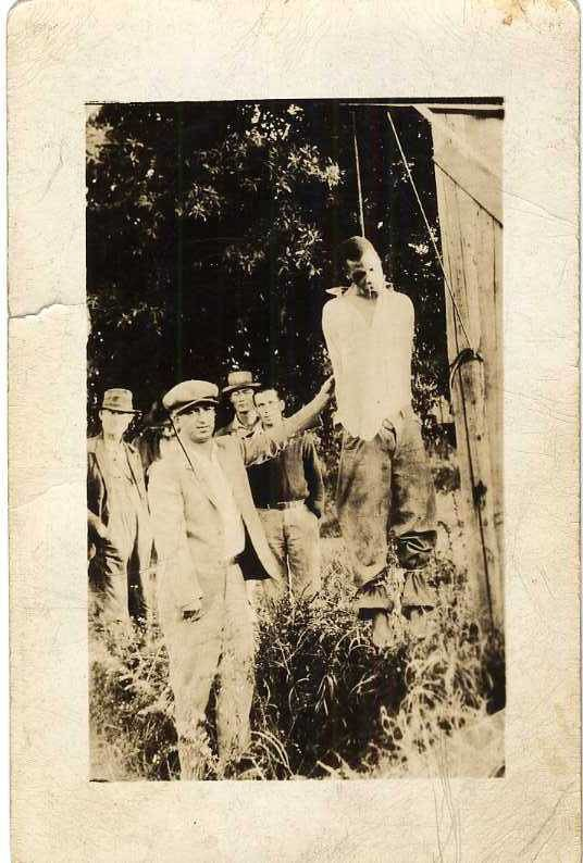 Hanging in Georgia (black man hung by a white mob) (NBY 7660)