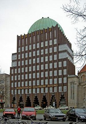 Hannoversche Allgemeine Zeitung -  HAZ in Anzeiger-Hochhaus
