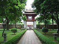 Central area of the Thang Long Imperial Citadel in Hanoi