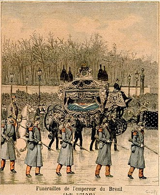 Exile and death of Pedro II of Brazil - Funeral of Pedro II of Brazil depicted at the cover of the Le Petit Journal (by Hans Meyer).