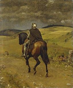 Hans Thoma - Einsamer Ritt (1889)
