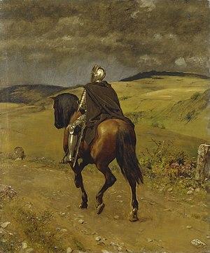 Hans Thoma -  Hans Thoma - Einsamer Ritt (1889)