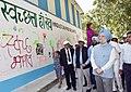 "Hardeep Singh Puri visiting an exhibition of the Painting, Essay, Slogan, Graffitti competition, organised by Hindustan Prefab Limited, as part of the ""Swachhta Hi Seva"" Abhiyan, in New Delhi.JPG"