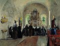 Harriet Backer - The Holy Communion celebrated in Stange Church - NG.M.00905 - National Museum of Art, Architecture and Design.jpg