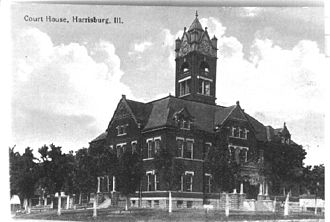 Harrisburg, Illinois - Saline County Court House 1917.