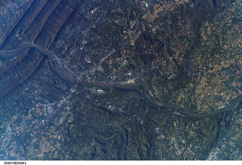 Harrisburg, Pennsylvania - as seen from ISS on 2007-04-30