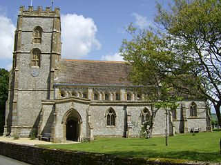 Hawkchurch village in United Kingdom