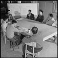 Heart Mountain Relocation Center, Heart Mountain, Wyoming. A meeting of the Center Planning Commiss . . . - NARA - 539256.tif