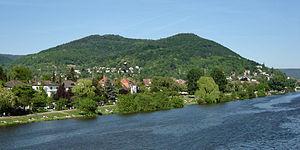 Mercurius Cimbrianus - The Heiligenberg near present-day Heidelberg, where three inscriptions to Mercury Cimbrianus were found