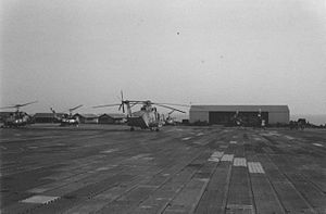 Chu Lai Base Area - Helicopters at Chu Lai, 1966