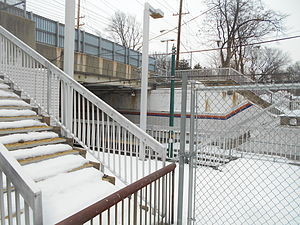 Branch Brook Park (NLR station) - Heller Parkway station in February 2015 with all facilities intact