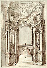 Design for the main altar of St. Augustine's Church in Antwerp, before 1701