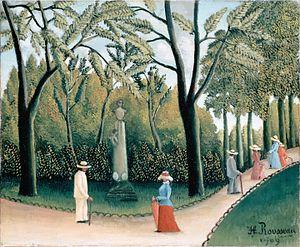 ROUSSEAU, Henri Luxembourg Gardens 1909