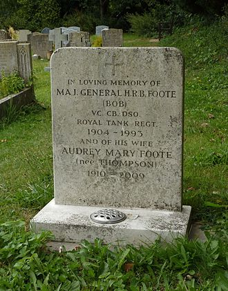 Henry Bowreman Foote - Major General Foote's grave at St Mary's Church, West Chiltington, Sussex, photographed in 2014