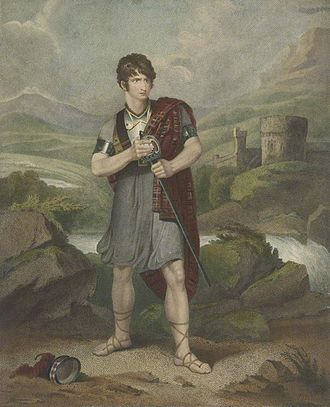 Scottish literature in the eighteenth century - Portrait of Henry Erskine Johnston (1777–1830?), Scottish actor, in the title role of Douglas