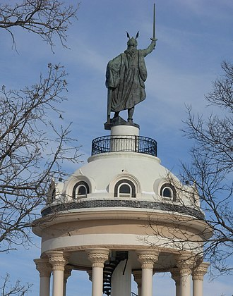 Hermann Heights Monument - The monument rises above New Ulm