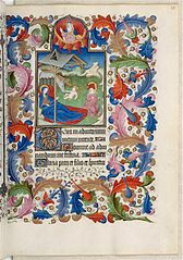 Annunciation. Miniature from the Book of Hours of the Duke of Guise, folio 25