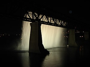 109 Street, Edmonton - The High Level Bridge Waterfall