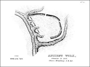 Cole culture - Map of the Highbanks Park Earthworks built by Cole culture people