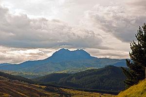Mount Hikurangi (Gisborne District) - Mount Hikurangi, as seen from the Waiapu Valley