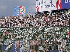 Estadio Defensores del Chaco - Image: Hinchada de Olimpia 27 3 2011