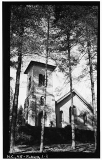 Historic American Buildings Survey, Stewart Rogers, Photographer January 23, 1934 EAST ELEVATION (FRONT). - Church of St. John-in-the-Wilderness, U.S. Route 25, Flat Rock, HABS NC,45-FLARO,1-1.tif