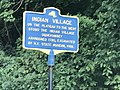 Historic marker site of Indian Village, Neversink Drive.jpg