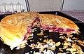 Homemade pie (burek) with cherries 01.jpg
