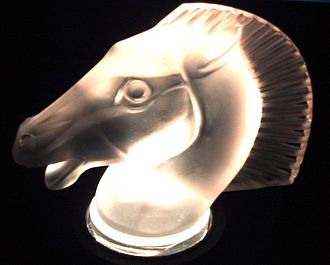 Art glass - Horse by René Jules Lalique.