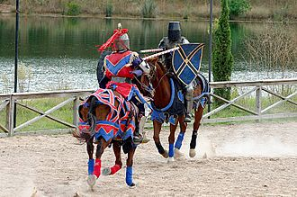 Renaissance fair - Jousting knights perform on horseback at the Texas Renaissance Festival (2005)