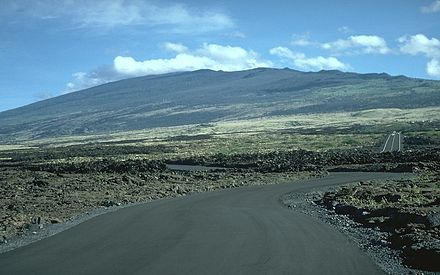 Hualalai is a massive shield volcano in the Hawaiian-Emperor seamount chain. Its last eruption was in 1801. Hualalai 1996.jpg