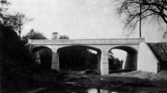The Queensway – Humber Bay - Queensway bridge over the Mimico Creek