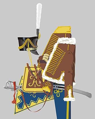 Russian Hussars - Image: Husaren Regt Achtyrka 1812