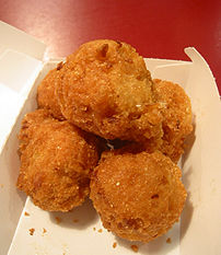 Stack of five hushpuppies