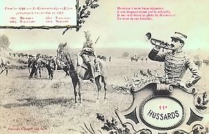 11th Hussar Regiment (France) - A 1905 postcard showing the unit
