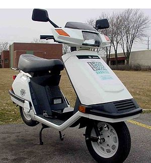 Office of Energy Efficiency and Renewable Energy - A scooter modified to use hydrogen as fuel within its internal combustion engine