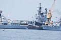 INS Viraat and two Brahmaputra class frigates (3959773636).jpg