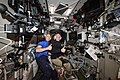 ISS-56 Drew Feustel and Oleg Artemyev train in the Zvezda service module.jpg