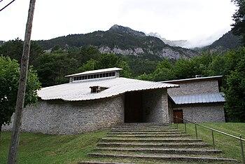 Iglesia parroquial de Nuestra Señora del Pilar en Canfranc-Estación.