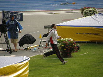 Egypt at the 2012 Summer Olympics - Ihab Abdelrahman, pictured at the 2008 World Junior Championships in Athletics, competed in the javelin throw, achieved a best distance of 77.35 meters, and placed 28th.