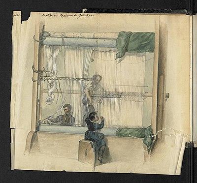Illustration 2 extraite du Manuel sur l'art de la tapisserie par Mr Deyrolle, ancien chef d'atelier aux Gobelins.jpg