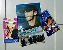 Images of American teen idols, attached to Hoa Hoc Tro Magazine (Vietnam).jpg