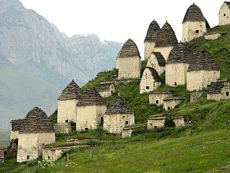 Ossetians - Charnel vaults at a necropolis near the village of Dargavs, North Ossetia