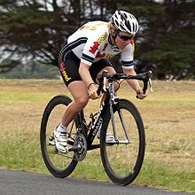 15684b7bd Teutenberg riding the time trial stage of the 2008 Geelong Tour in Australia